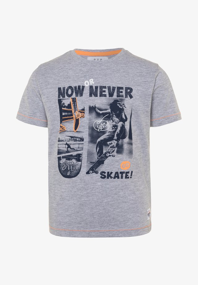 KID - T-shirts print - grey melange