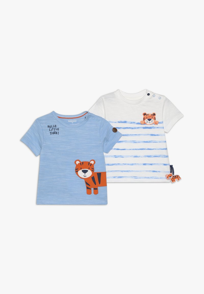 Staccato - 2 PACK - T-shirt print - light blue