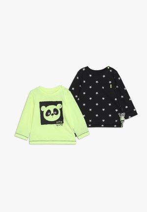 2 PACK - T-shirt à manches longues - neon yellow/black