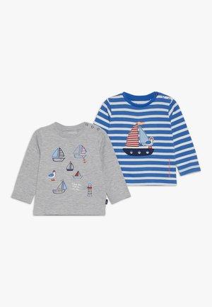 2 PACK - T-shirt à manches longues - blue/mottled grey