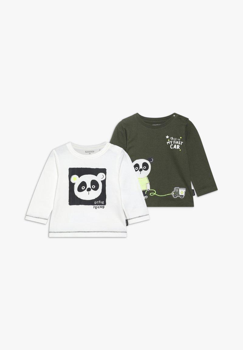 Staccato - 2 PACK - Print T-shirt - khaki/offwhite