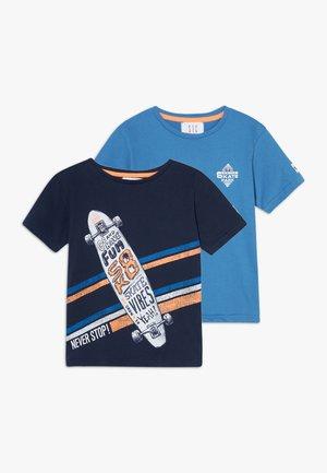 2 PACK - T-shirt z nadrukiem - navy/royal