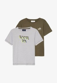 Staccato - 2 PACK - T-shirts med print - olive - 3