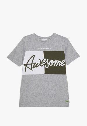 TEENAGER - T-shirt med print - grey melange