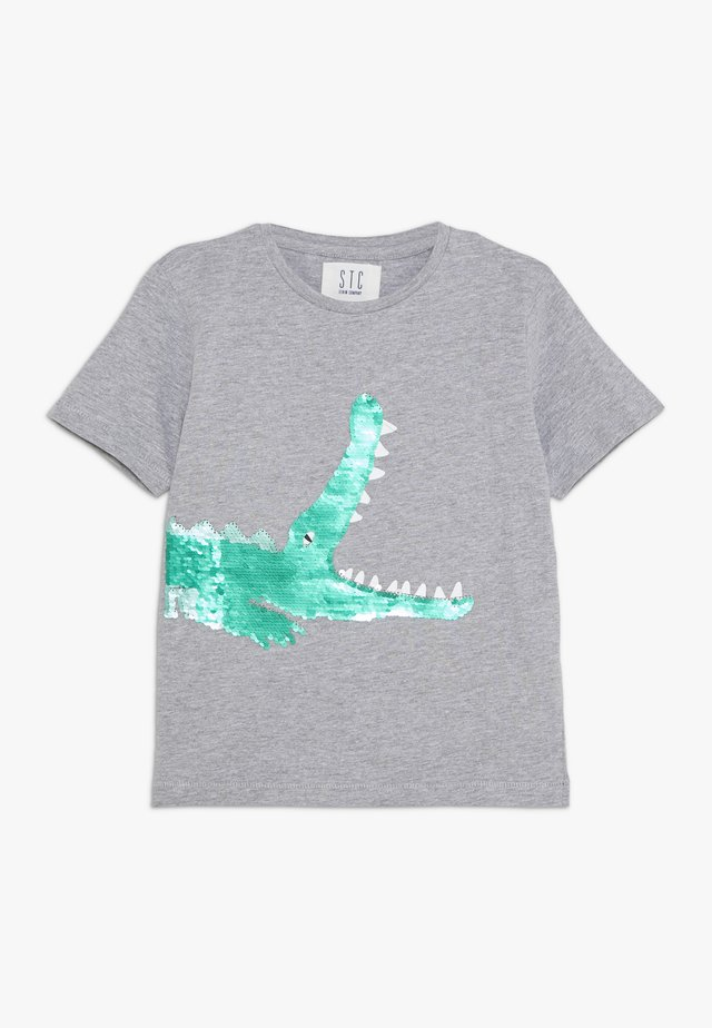 KID - T-shirt print - grey melange