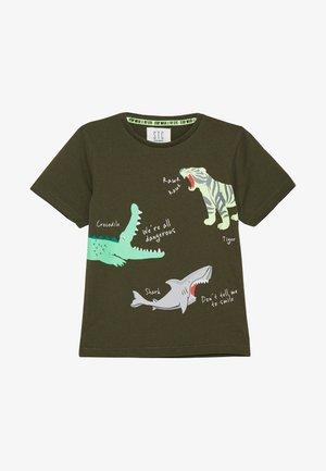 KID - T-Shirt print - dark olive