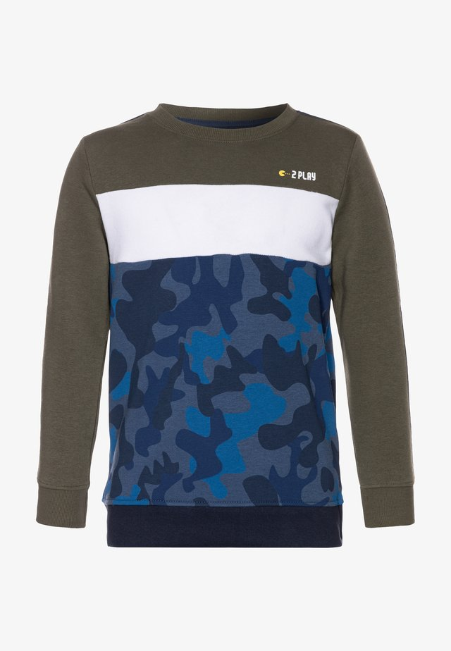 KID - Sweatshirts - olive/washed blue