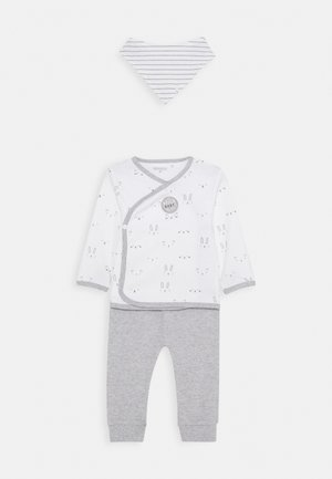 BABY SET - Pantalones - white/grey