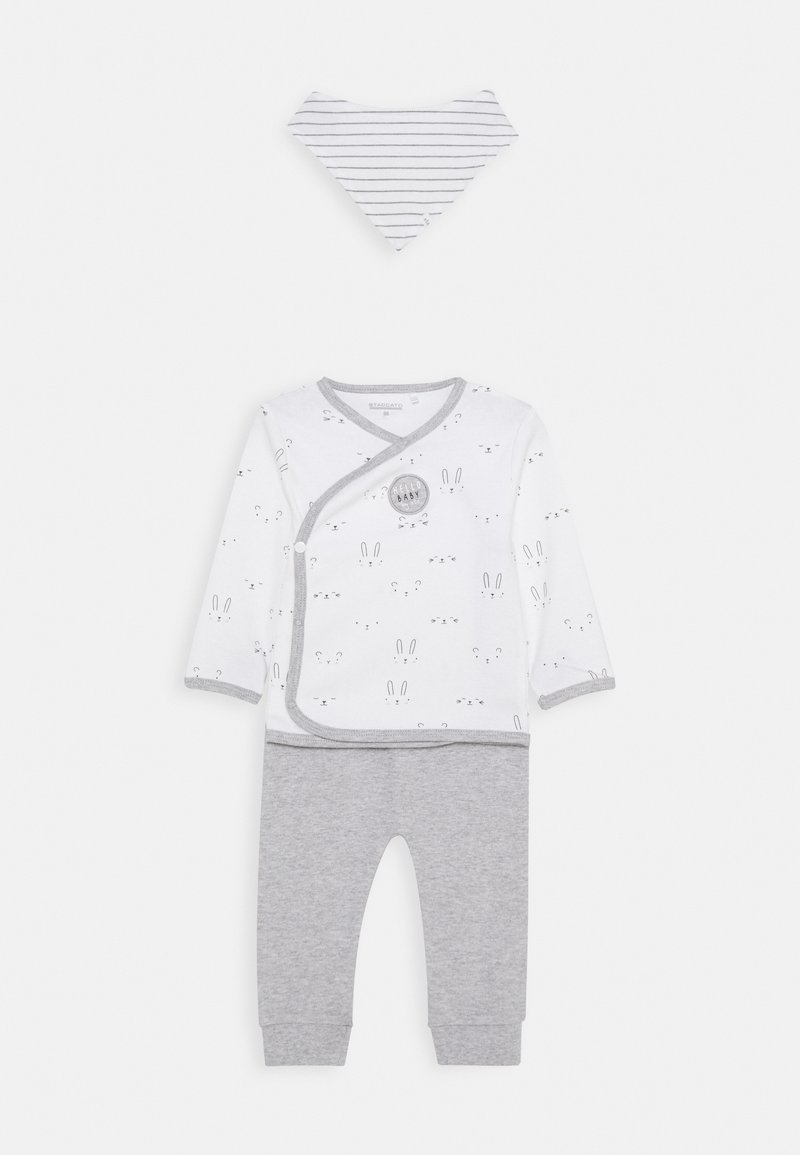 Staccato - BABY SET - Trousers - white/grey