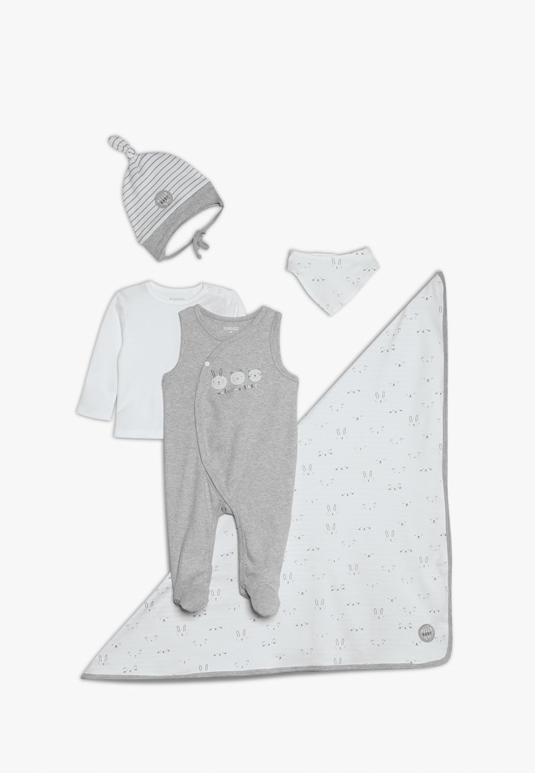 Staccato - GESCHENKSET BABY - Halsdoek - grey/white