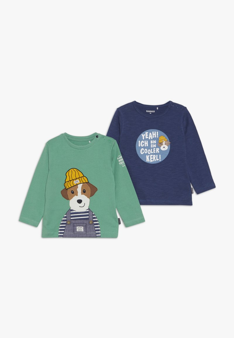 Staccato - BABY 2 PACK - Maglietta a manica lunga - green/dark blue