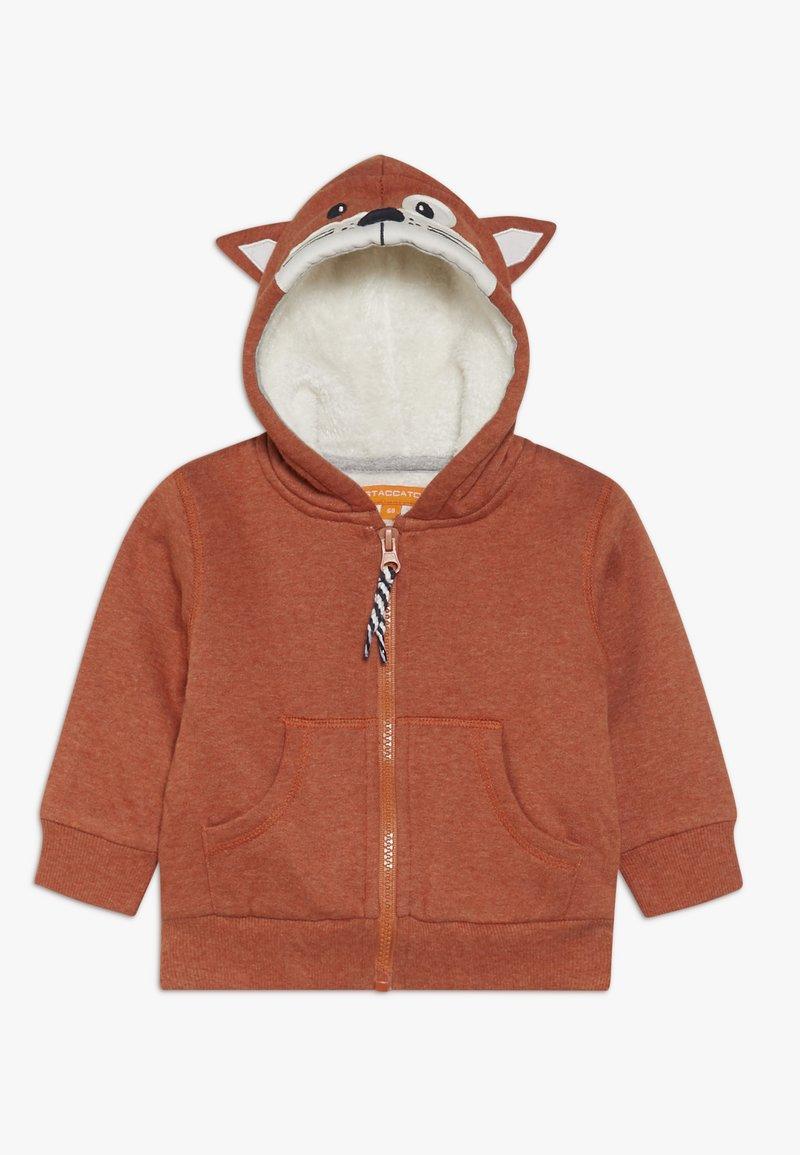 Staccato - WOODLAND BABY - Zip-up hoodie - rust melange