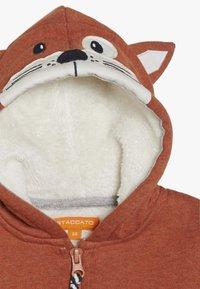 Staccato - WOODLAND BABY - Zip-up hoodie - rust melange - 2