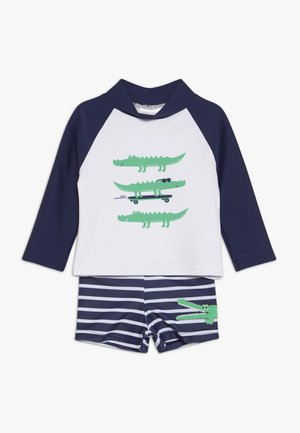 BABY SET - Plavky - navy/white