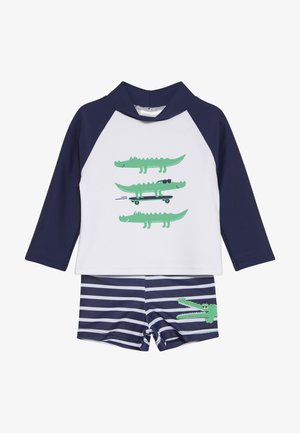 BABY SET - Badeshorts - navy/white
