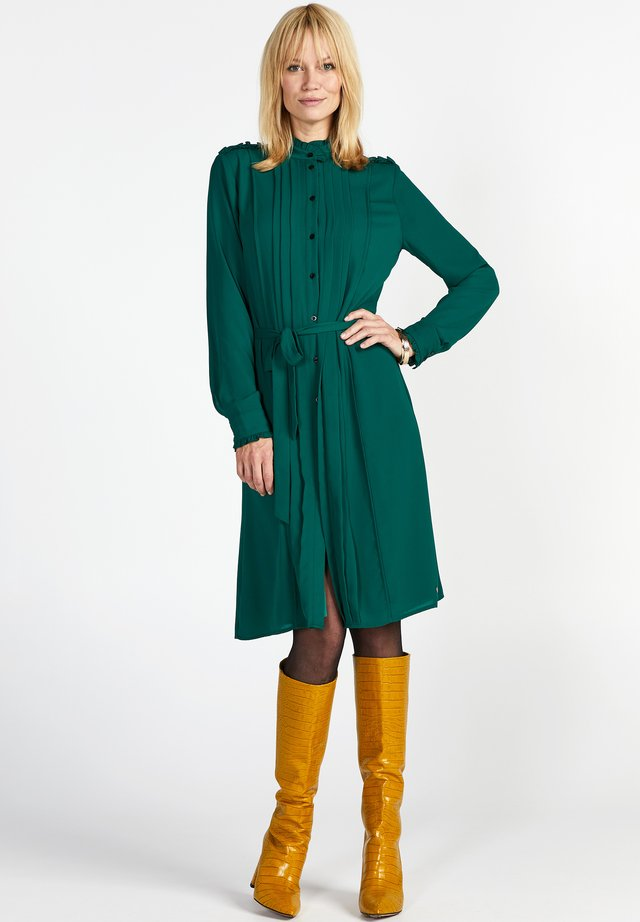 Shirt dress - full green