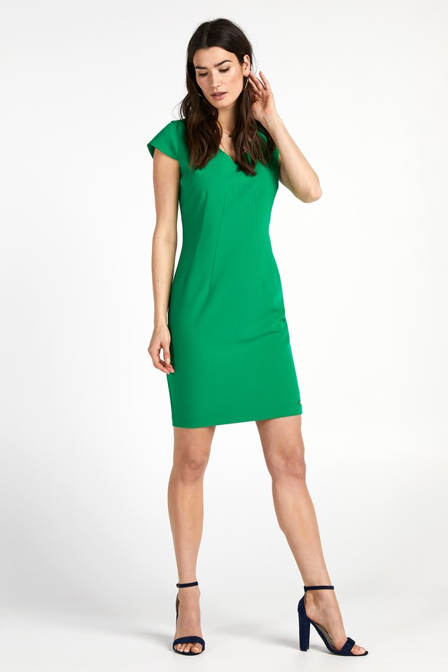 MAYA - Shift dress - grassgreen
