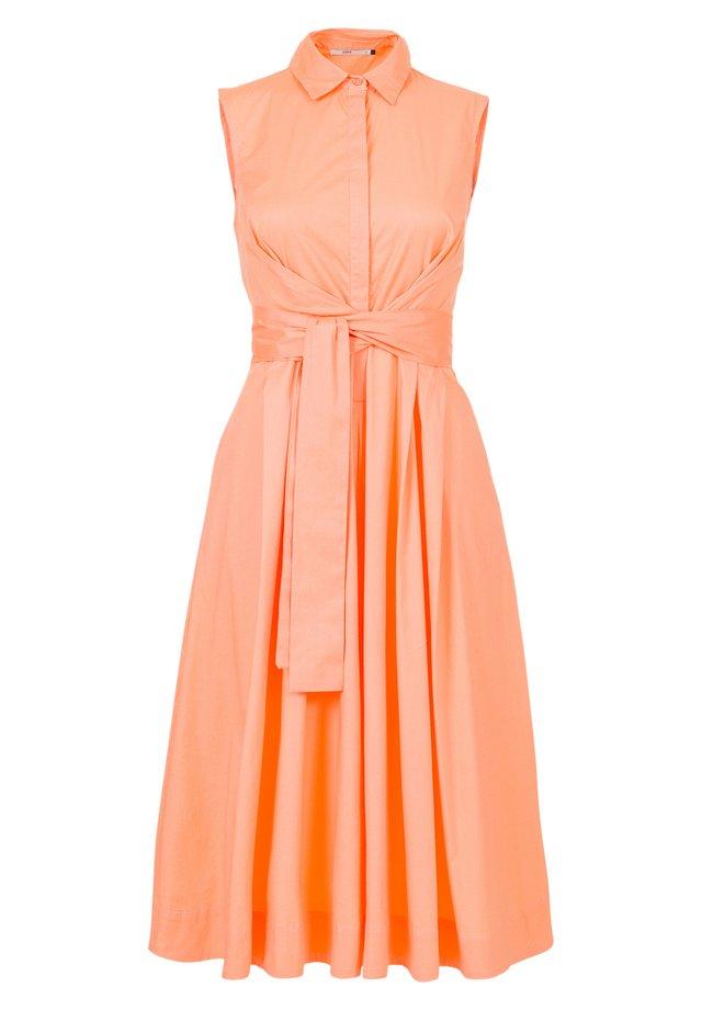 Shirt dress - cantaloupe