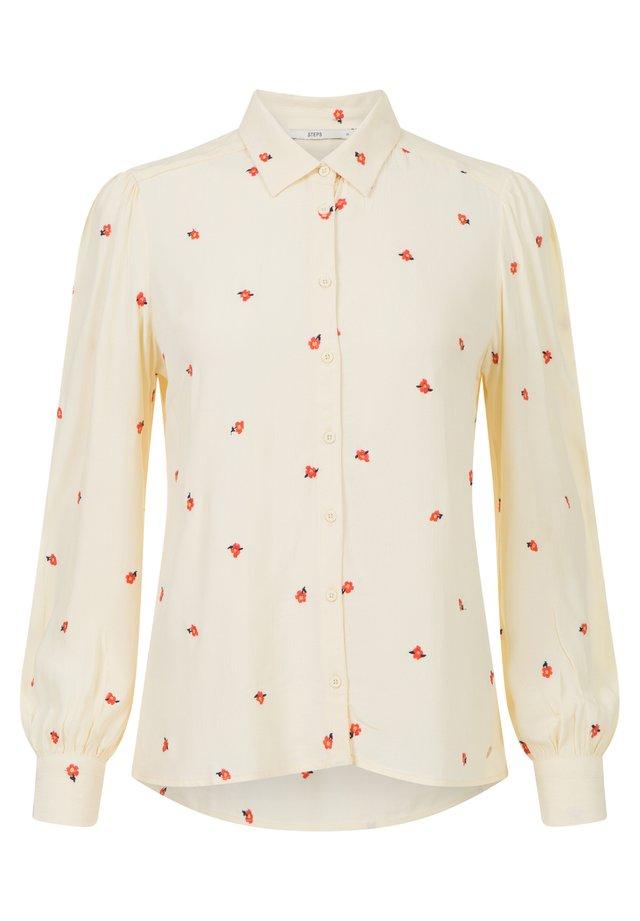 COLLECTION - Button-down blouse - vanillacustard