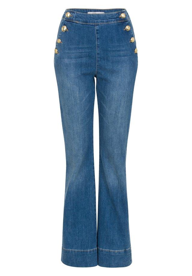 MAYA - Bootcut jeans - denim blue