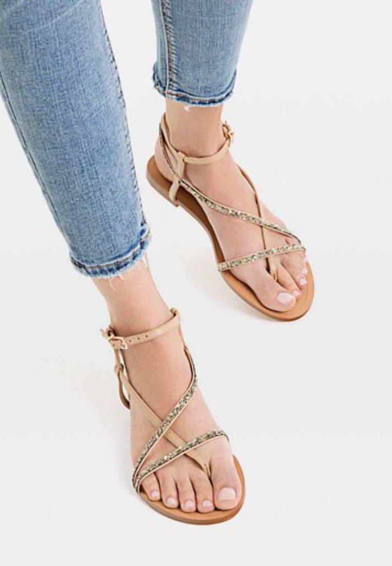 Stradivarius - Sandals - beige