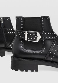 Stradivarius - Bottines - black - 4