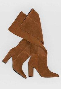 Stradivarius - High heeled boots - brown - 4