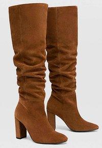 Stradivarius - High heeled boots - brown - 2