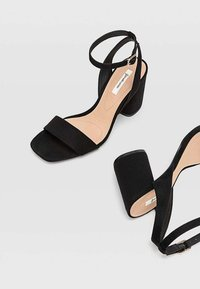 Stradivarius - High heeled sandals - black - 4