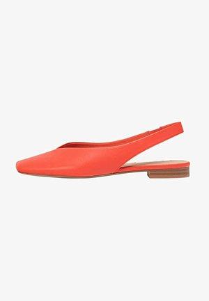 MIT OFFENER FERSE  - Slingback ballet pumps - orange