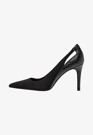 MIT ABSATZ UND SCHLITZEN  - High Heel Pumps - black