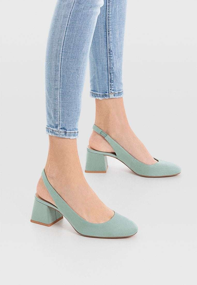 Stradivarius - Pumps - green