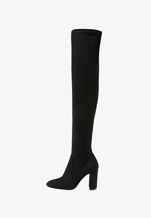 MIT BREITEM ABSATZ - Overknee laarzen - black