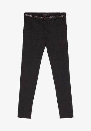 MIT GÜRTEL - Trousers - black