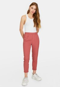Stradivarius - Trousers - rose - 0