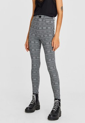 MIT JACQUARDMUSTER  - Leggings - Trousers - grey