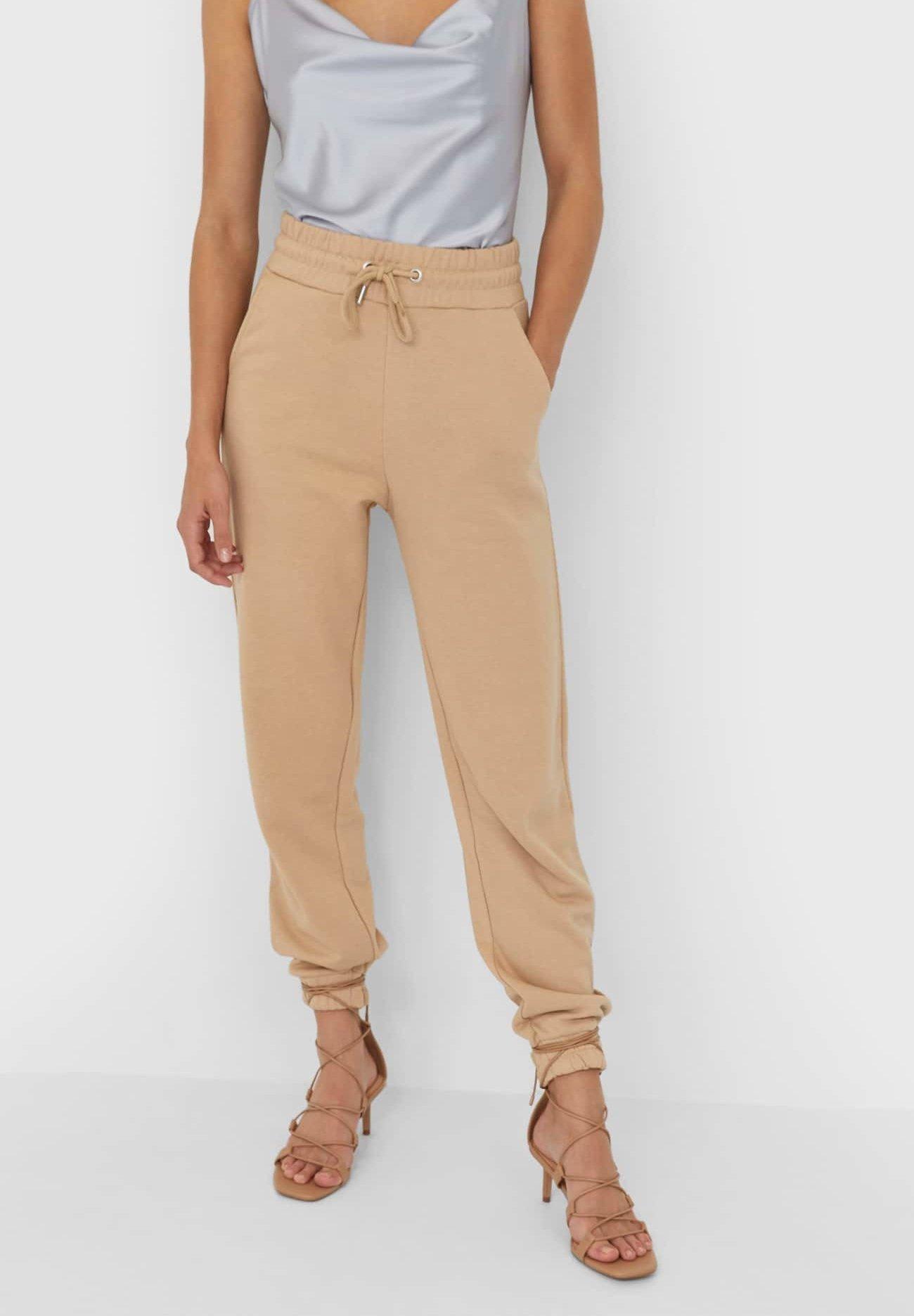 pantalon satin brillant femme fluide zalando