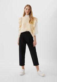 Stradivarius - Trousers - black - 1