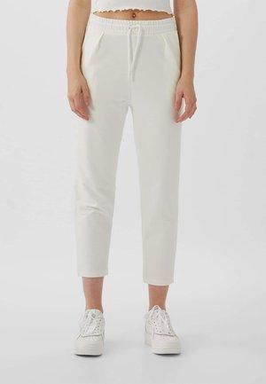 MIT KORDELZUG - Pantalon de survêtement - white