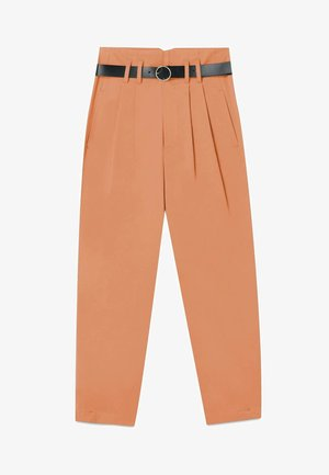 BALLOON PAPERBAG HOSE  - Pantalon classique - orange