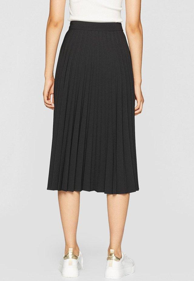 PLISSIERTER ROCK  - Pleated skirt - black