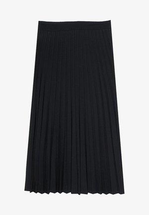 PLISSIERTER ROCK  - Pliceret nederdel /Nederdele med folder - black