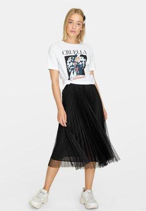 MIT PLUMETIS - A-line skirt - black