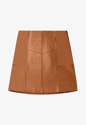 ROCK MIT ZIERNÄHTEN 04701680 - Jupe trapèze - brown