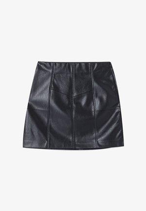 ROCK MIT ZIERNÄHTEN 04701680 - Jupe trapèze - black