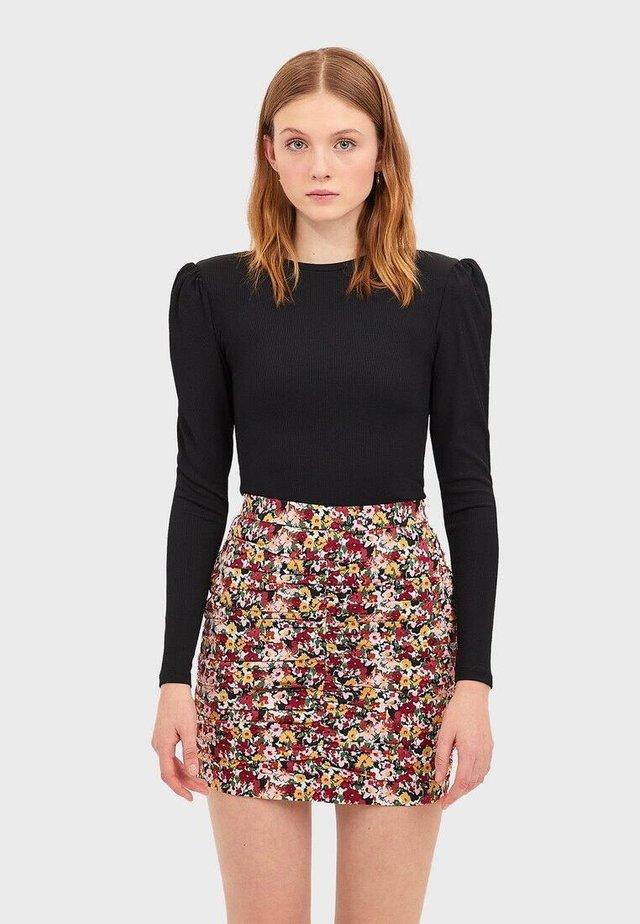 MIT PRINT  - A-snit nederdel/ A-formede nederdele - dark brown