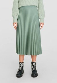 Stradivarius - Pleated skirt - turquoise - 0