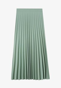 Stradivarius - Pleated skirt - turquoise - 5