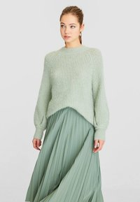 Stradivarius - Pleated skirt - turquoise - 3
