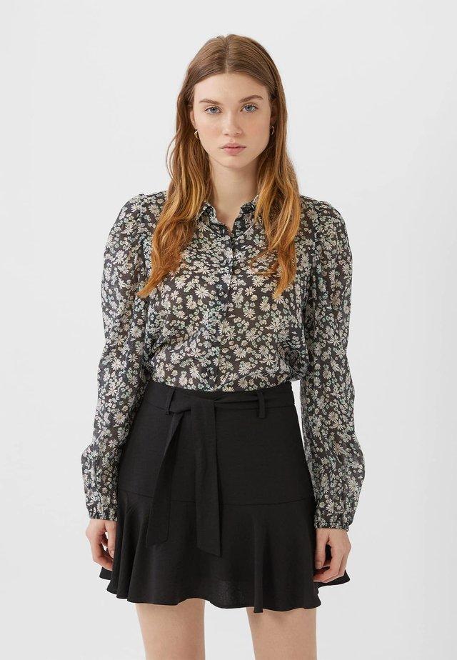 FLIESSENDER  - A-snit nederdel/ A-formede nederdele - black